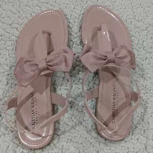 Christian Siriano Pink Bow Tie Sandals